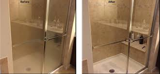 so your scrubbi house maid came in and she made your glass shower doors look like new