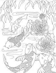 Small Picture Fish Coloring Page koi coloring page Japanese by colorblinddragon