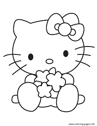 Baby Hello Kitty Playing Toys Coloring Pages Printable