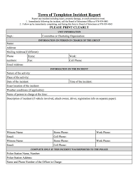 Paulys Templeton Watch Town Of Templeton Incident Report