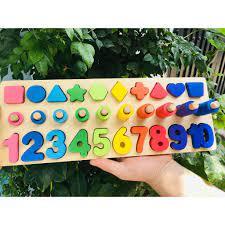 Giá rẻ nhất)Đồ chơi gỗ thông minh MOONDOG Bảng học đếm, hình học, câu cá  chính hãng 65,550đ