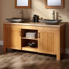 Bamboo Bathroom Sink 60 Jindra Bamboo Double Vessel Sink Vanity Bathroom