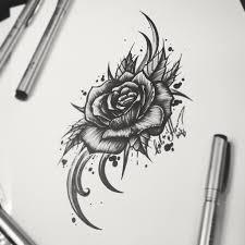 тату эскиз роза и орнамент тату эскиз роза и орнамент эск Flickr