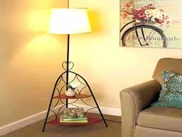 floor lamp with shelves brown standing sofa shelf