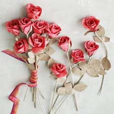 Rose Flower With Paper Paper Flowers Red Rose West Elm