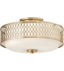 semi flush mount ceiling lights. Fredrick Ramond FR35601BRG Jules 3 Light 15 Inch Brushed Gold Semi-Flush Mount Ceiling Semi Flush Lights