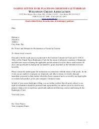 Sample Letter Of Credit Fascinating Administrative Claim Sample Letter Wisconsin Credit Association