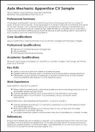 Mechanic Resume Sample Auto Apprentice Aircraft Technician Air Force