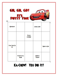 Free Printable Cars Potty Training Chart Pin By Jessica Bowers On Products I Love Printable Potty