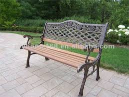 Antique Wrought Iron Garden Bench With Wooden Slats Shop For Sale Outdoor Wrought Iron Bench