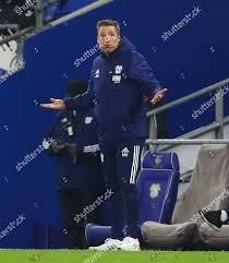 Cardiff City manager Neil Harris shows look Redaktionelles Stockfoto –  Stockbild