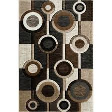 alburnett brown circles 8x10 rug