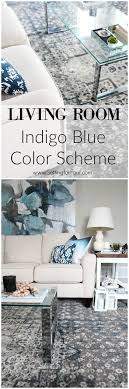 List Of Living Room Furniture An Indigo Blue Color Scheme For Our Living Room Setting For Four