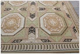aubusson rug 8x10 vintage french exquisite geometric