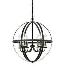 6 light oil rubbed bronze with highlights outdoor hanging chandelier lights uk n