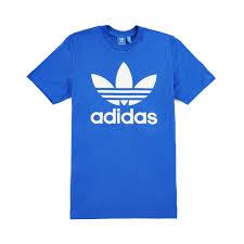 adidas t shirt. adidas originals - original trefoil t-shirt, blue 1 t shirt