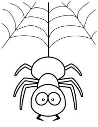 Small Picture Cute Spider Coloring Page
