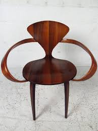 cherner furniture. midcentury modern norman cherner for plycraft bentwood pretzel chair 3 furniture