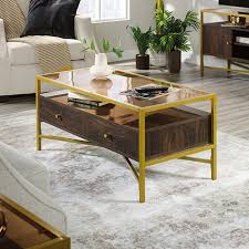harper heights glass top coffee table