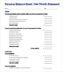 Simple Personal Balance Sheet Example Personal Balance Sheet Template 16 Free Word Excel Pdf