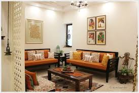 with creamy white walls and an open arrangement in the floor plan pertaining to indian living room design 14 indian traditional living room ideas a57 room