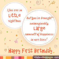 First Birthday Quotes Custom First Birthday Card Message 48st Birthday Wishes First Birthday
