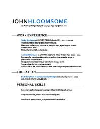 Text Resume Template Magnificent Simple Resume Templates [48 Examples Free Download]