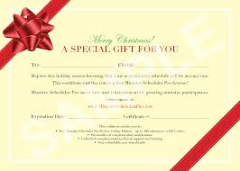 Wording For Gift Certificates Sign Up Calendar Template