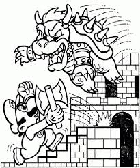 Super Mario Brothers Coloring Pages Mario Luigi Coloring Pages For