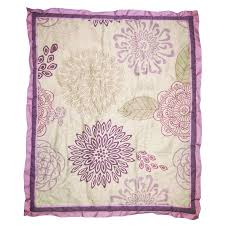 the peanut shell crib bedding set purple and lavender fl theme dahlia 4 piece baby girl crib bedding set com