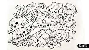 Small Picture Cute Kawaii Food Coloring Pages Get Coloring Pages
