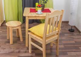 dining table 002 solid pine wood clearly varnished h75 x w70 x d70 cm