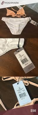 Onia 2 Piece Orange White Swimsuit Size Xs Nwt 2 Piece Set