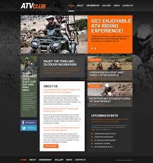 Rally Templates Website Template 49329 Atv Club Training Custom Website Template