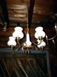 milk glass chandelier value vintage