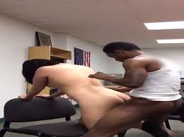 Interracial sex at work