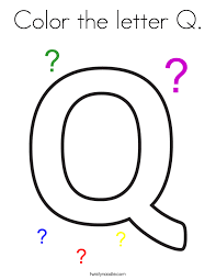 Small Picture Color the letter Q Coloring Page Twisty Noodle
