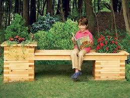 garden bench planter box. garden bench planter box a