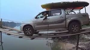 Tiny Trucks Boat Towing Pickup Truck Makes A Nerve Wracking Trip Across Water
