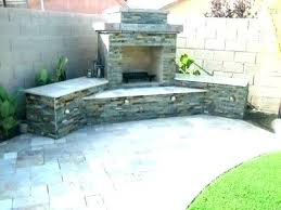 how to build a stone outdoor fireplace grill an barbecue average cost ho