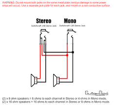 2 x 12 mono stereo speaker wiring 2 x 8 ohm speakers 8 ohms 2 x 12 mono stereo speaker wiring x 8 ohm speakers 8 ohms to each channel in stereo or 4 ohms in mono mode x 16 ohm speakers 16 ohms to