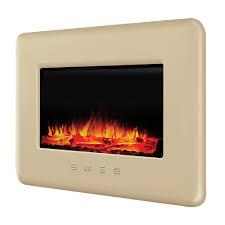 Smeg Retro Cream Remote Control Electric Fire | Departments | DIY at B&Q