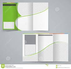 Foldable Brochure Template Free Tri Fold Business Brochure Template Vector Green Stock