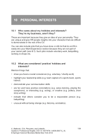 Hobbies For Resume Interests Hobbies Resume Examples 75