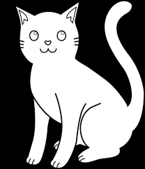 black and white cat clipart. White Cat Clip Art Kitty Line For Coloring ILoveALLofMyKitties Pinterest Cats And Outline Intended Black Clipart