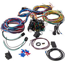 21 circuit wiring harness hot rod universal wire kit for chevy for 21 circuit wiring harness 17 fuses for chevy mo par for ford hot rod universal