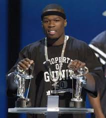 hip hop artist 50 cent accepts the best rap video of the year award for