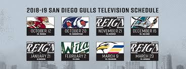 gulls 2018 19 television schedule