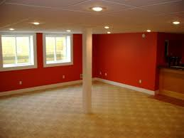 Here's a bright basement color option.