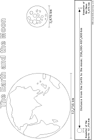 Small Picture Earth and Moon PrintoutColoring Page EnchantedLearningcom